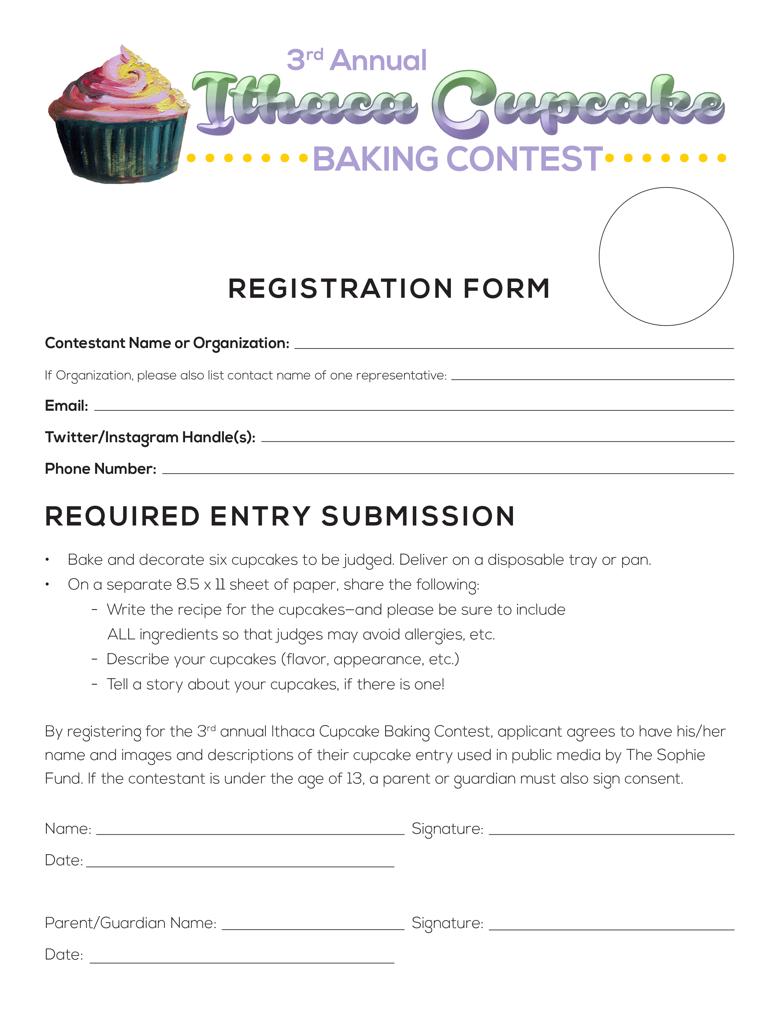 Cupcake Contest – The Sophie Fund