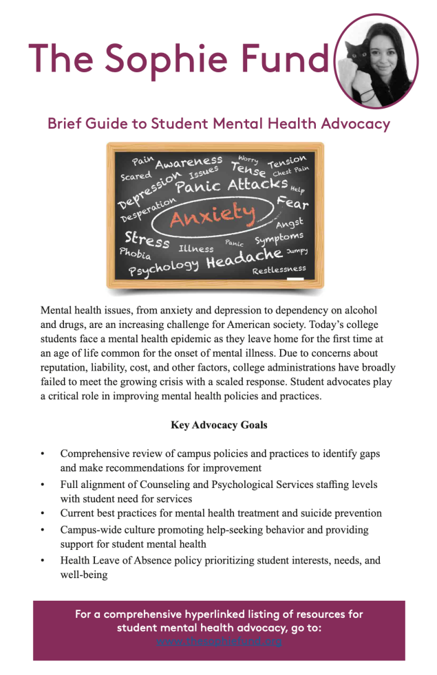 Guide to Student Mental Health Advocacy